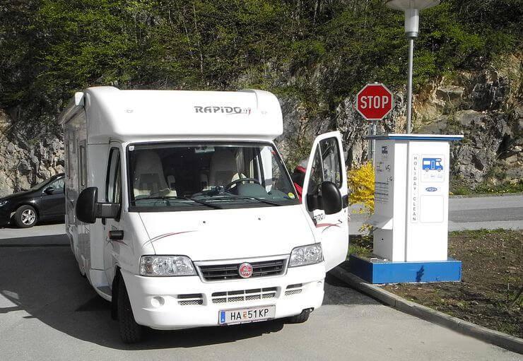 Wohnmobil-Park im Salzburger Land